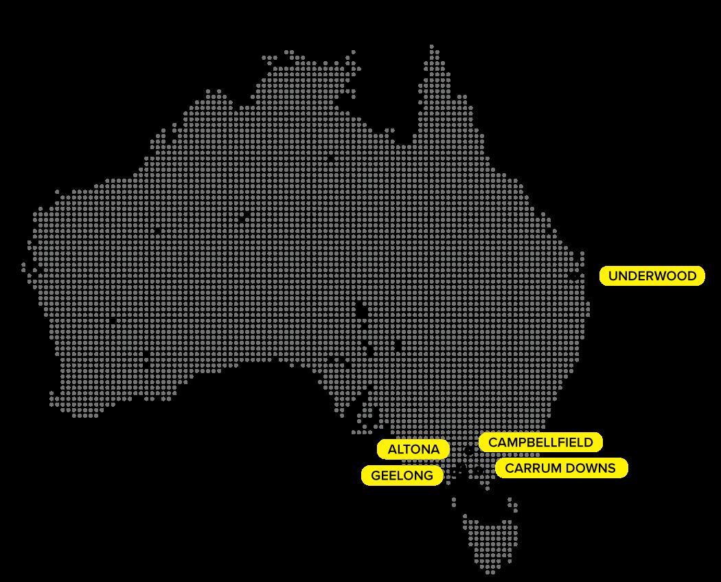 Map of Aus.